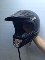 Мото шлем кроссовый черный XXL