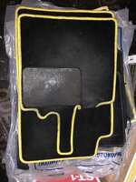 Коврики комплект для Smart 450 велюровые желтые