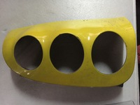 Накладка задней фары правая желтая Smart 450