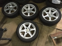 Литые диски с зимней резиной широкие Rial Smart 450 451 Roadster
